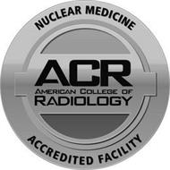 NUCLEAR MEDICINE ACR AMERICAN COLLEGE OF RADIOLOGY ACCREDITED FACILITY