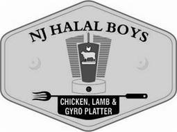 NJ HALAL BOYS CHICKEN, LAMB & GYRO PLATTER