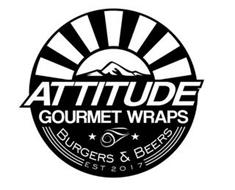 ATTITUDE GOURMET WRAPS BURGERS & BEERS EST 2017