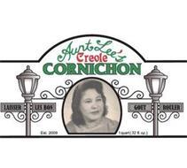 AUNT LEE'S CREOLE CORNICHON LAISSER LES BON GOUT ROULER EST. 2009 1 QUART (32 FL. OZ.)