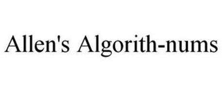 ALLEN'S ALGORITH-NUMS