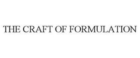 THE CRAFT OF FORMULATION