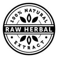 100% NATURAL RAW HERBAL · EXTRACT ·