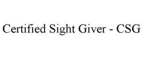 CERTIFIED SIGHT GIVER - CSG