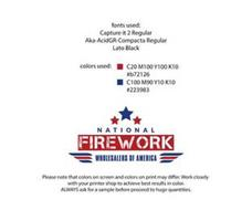 NATIONAL FIREWORK WHOLESALERS OF AMERICA