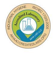 INDUSTRIAL HYGIENE ISO/IEC 17025:2005 AIHAACCREDITEDLABS.ORG ACCREDITED LABORATORY AIHA LAP, LLC