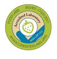 FOOD LABS ISO/IEC 17025:2017 AIHAACCREDITEDLABS.ORG ACCREDITED LABORATORY AIHA LAP, LLC