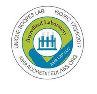 UNIQUE SCOPES LAB ISO/IEC 17025:2017 AIHA ACCREDITEDLABS.ORG ACCREDITED LABORATORY AIHA LAP, LLC