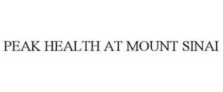 PEAK HEALTH AT MOUNT SINAI Trademark of Icahn School of