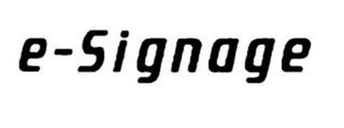 E-SIGNAGE