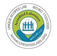 UNIQUE SCOPES LAB ISO/IEC 17025:2005 AIHA ACCREDITEDLABS.ORG ACCREDITED LABORATORY AIHA LAP, LLC