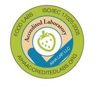 FOOD LABS ISO/IEC 17025:2005 AIHAACCREDITEDLABS.ORG ACCREDITED LABORATORY AIHA LAP, LLC