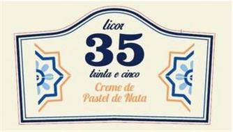 LICOR 35 TRINTA E CINCO CREME DE PASTEL DE NATA