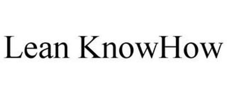 LEAN KNOWHOW