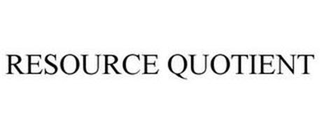 RESOURCE QUOTIENT