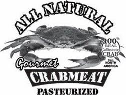 ALL NATURAL 100% REAL CALLINECTES CRAB FROM NORTH AMERICA GOURMET CRABMEAT PASTEURIZED