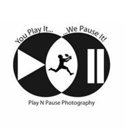 YOU PLAY IT... ...WE PAUSE IT! PLAY N PAUSE PHOTOGRAPHY