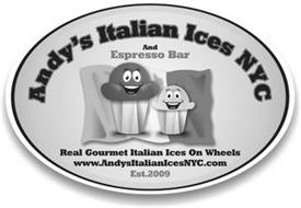 ANDY'S ITALIAN ICES NYC AND ESPRESSO BAR REAL GOURMET ITALIAN ICES ON WHEELS WWW.ANDYSITALIANICESNYC.COM EST.2009