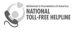ALZHEIMER'S FOUNDATION OF AMERICA NATIONAL TOLL-FREE HELPLINE
