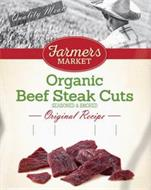 QUALITY MEATS FARMERS MARKET ORGANIC BEEF STEAK CUTS SEASONED & SMOKED ORIGINAL RECIPE