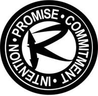 · PROMISE · COMMITMENT · INTENTION · R