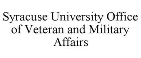 SYRACUSE UNIVERSITY OFFICE OF VETERAN AND MILITARY AFFAIRS