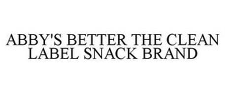 ABBY'S BETTER THE CLEAN LABEL SNACK BRAND