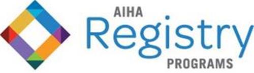 AIHA REGISTRY PROGRAMS