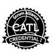 CATL SCRUM ALLIANCE CREDENTIAL I