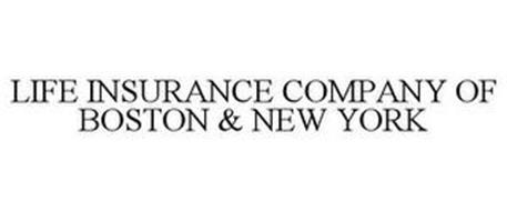LIFE INSURANCE COMPANY OF BOSTON & NEW YORK