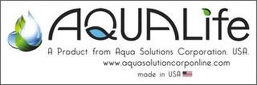 AQUALIFE A PRODUCT FROM AQUA SOLUTIONS CORPORATION. USA. WWW.AQUASOLUTIONCORPONLINE.COM MADE IN USA