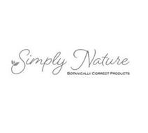 SIMPLY NATURE BOTANICALLY CORRECT PRODUCTS