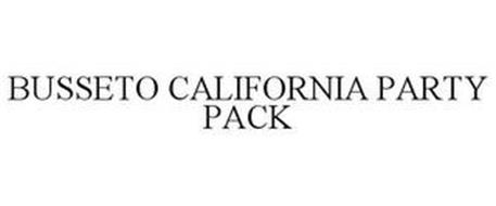 BUSSETO CALIFORNIA PARTY PACK