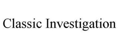 CLASSIC INVESTIGATION