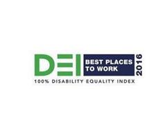 D E I BEST PLACES TO WORK 2016 100% DISABILITY EQUALITY INDEX