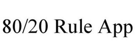 80/20 RULE APP