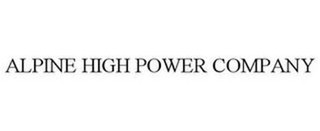 ALPINE HIGH POWER COMPANY