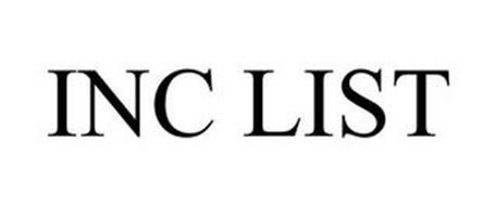 INC LIST