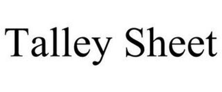 TALLEY SHEET
