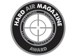 HARD AIR MAGAZINE AWARD USABILITY QUALITY VALUE PERFORMANCE