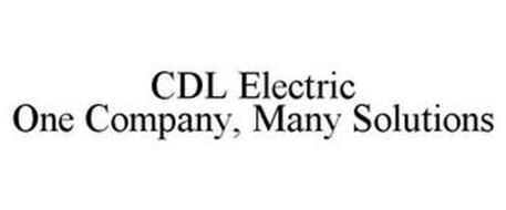 CDL ELECTRIC ONE COMPANY, MANY SOLUTIONS