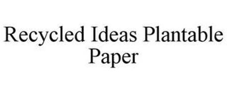 RECYCLED IDEAS PLANTABLE PAPER