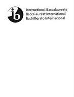 IB INTERNATIONAL BACCALAUREATE BACCALAURÉAT INTERNATIONAL BACHILLERATO INTERNACIONAL