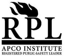 RPL APCO INSTITUTE REGISTERED PUBLIC-SAFETY LEADER