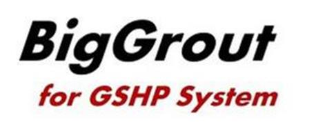 BIGGROUT FOR GSHP SYSTEM