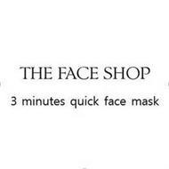 THE FACE SHOP 3 MINUTES QUICK FACE MASK