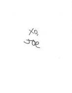 XO, JOE