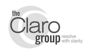 THE CLARO GROUP RESOLVE WITH CLARITY