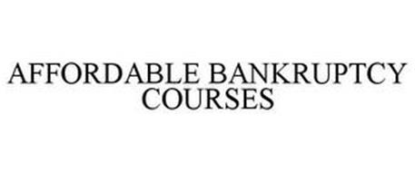 AFFORDABLE BANKRUPTCY COURSES
