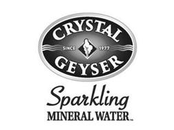 CRYSTAL GEYSER SINCE 1977 SPARKLING MINERAL WATER